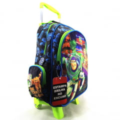 Mochila de Rodinha Toy Story com Lancheira - Estampa Brilha no Escuro - Dermiwil 30446