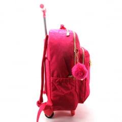 Mochila de Rodinha com Alça Barbie para Notebook Luxcel Rosa MC51145BB