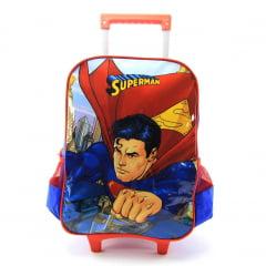 Mochila de Rodinha M Superman Dc Comics Luxcel IC32882SM-AZ