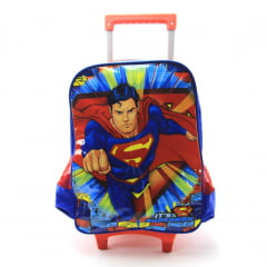 Mochila de Rodinha M Superman Dc Comics Luxcel IC32882SM-AZA