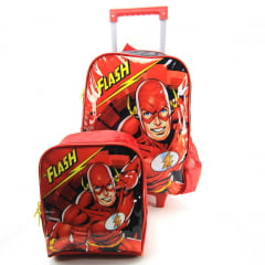 Mochila de Rodinha M The Flash com Lancheira Luxcel IC34262FM-PT