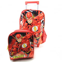 Mochila de Rodinha M The Flash com Lancheira Luxcel IC34262FM-VM