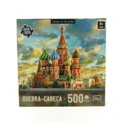 Quebra Cabeça Catedral de São Basílio 500 peças Game Office 2305